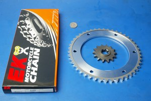 Chain and sprocket kit New Hyosung XRX125SM