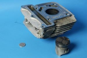Cylinder barrel and piston rear Hyosung GT125 models used