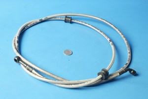 200cm braided brake hose straight fitting to 45 degree angle fit
