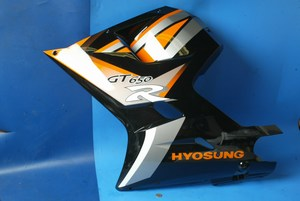 Side panel cowling left hand Hyosung GT650R 94433HPW310CBK