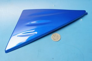 Side panel right hand decorator panel in blue