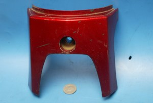 Front fork cover Metelic red Honda C90 Cub