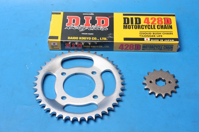 Chain and sprocket kit Motoroma SK125