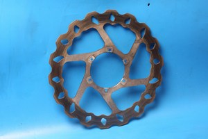 Front brake disc used for MotorHispania RX125R and Aprillia RS4