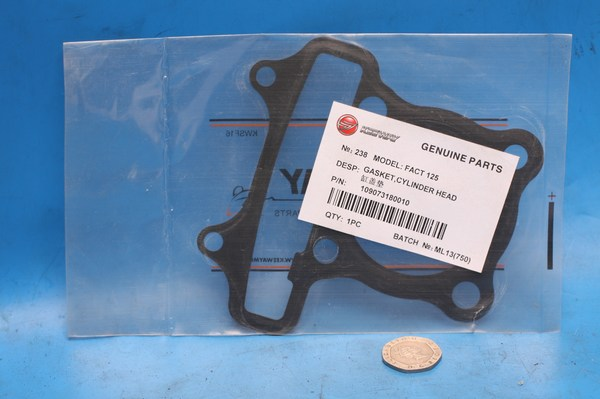Gasket Cylinder head Keeway Fact125 Hacker125 109073180010