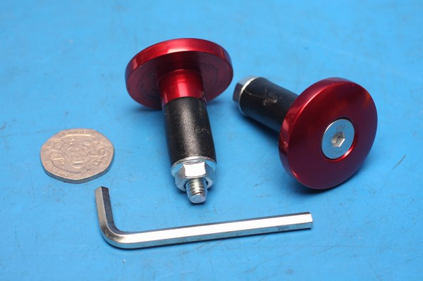 Bar end weight bullet type red HEW012