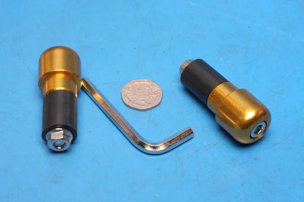 Bar end weight gold dome BEWSL22GD