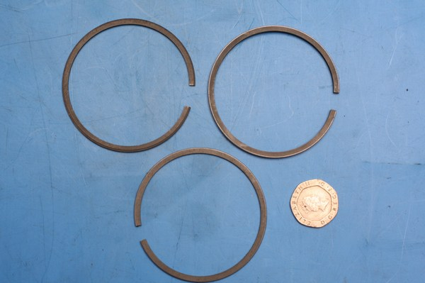 Piston rings set 1.0mm oversize for Honda CB125S