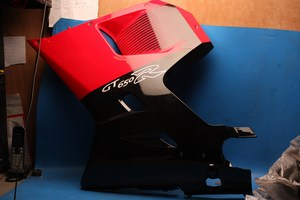 Fairing side Left Red and black shopsoile GT650R H94433HP9400CDR