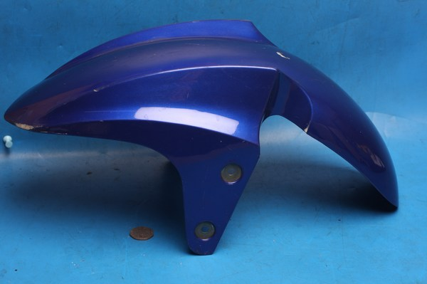 small mudguard in blue ABS used scratched
