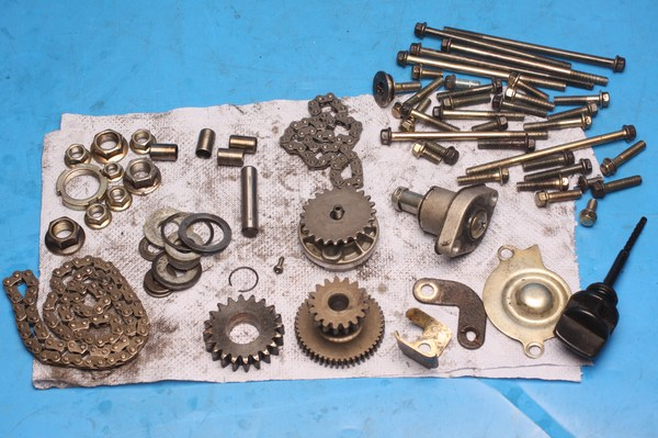 Assorted engine and gearbox parts Lexmoto Gladiator used
