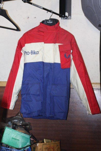 Pro-bika motorcycle jacket red/white/blue small shop soiled