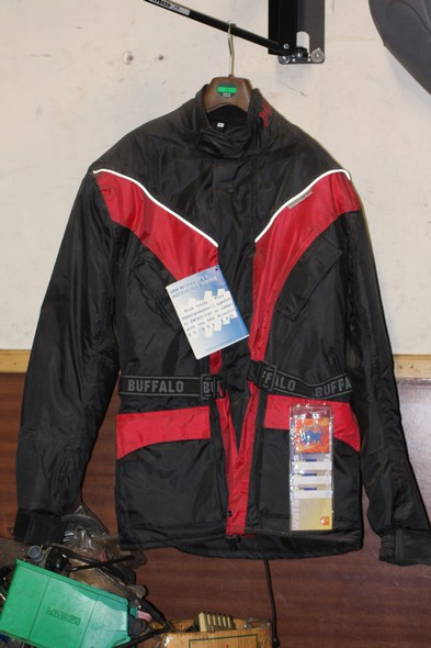 Buffalo sabre motorcycle jacket red XS shop soiled