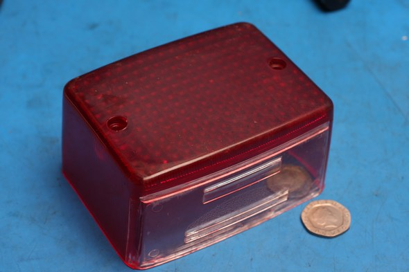 Brake tail light lens Kawasaki AR125 KE125 KMX125 nos