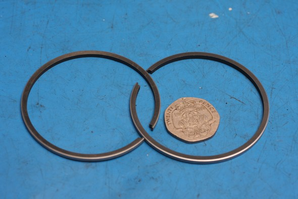 Piston ring set Yamaha RS100 0.75mm oversize new