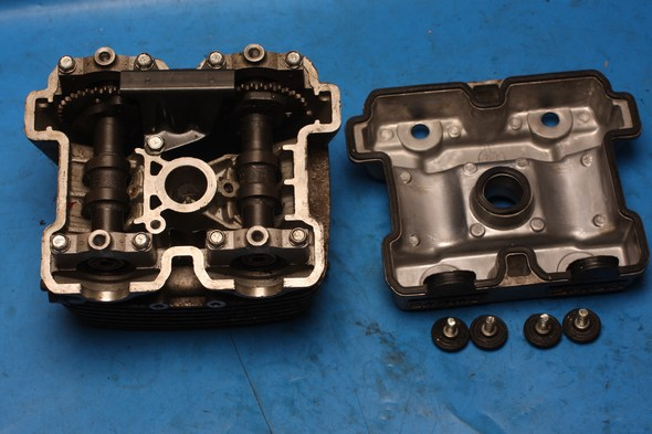 Cylinder head complete Hyosung GT125 GV125 used in black