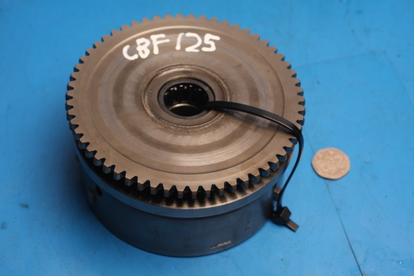 Flywheel and starter clutch used Honda CBF125