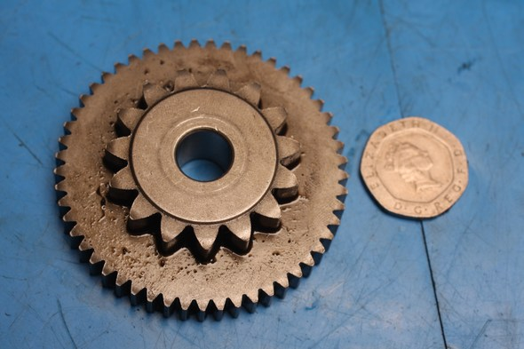 Starter pinion intermediate gear used Honda CBF125