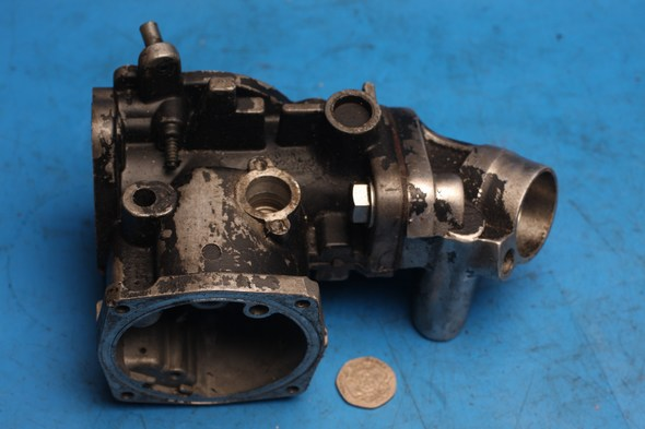 Carburettor body and manifold left hand S.U. for Norton used