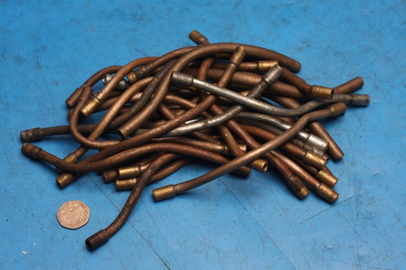 Idler pipes assorted Norton used