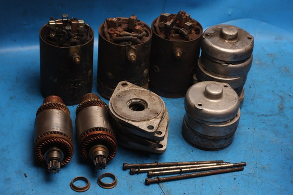 Starter motor components assorted Lucas for Norton used