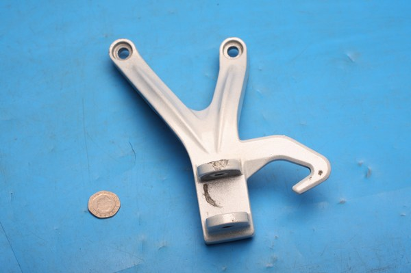 Footrest hanger mount bracket left hand rear Hyosung GT125R used - Click Image to Close