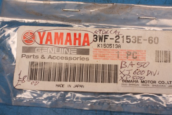 "transfer ""YAMAHA"" 3WF-2513E-60 also for BA50& XP500"