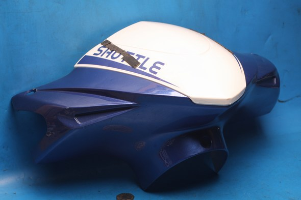 Hndlebar Front panel blue/white Used Sinnis shuttle 125EFI