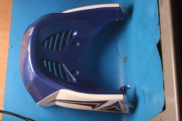 Front Lower fairing panel blue/white Used Sinnis shuttle 125EFI