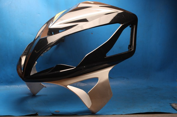Front fairing panel black white and yellow Sinnis Shuttle125 all