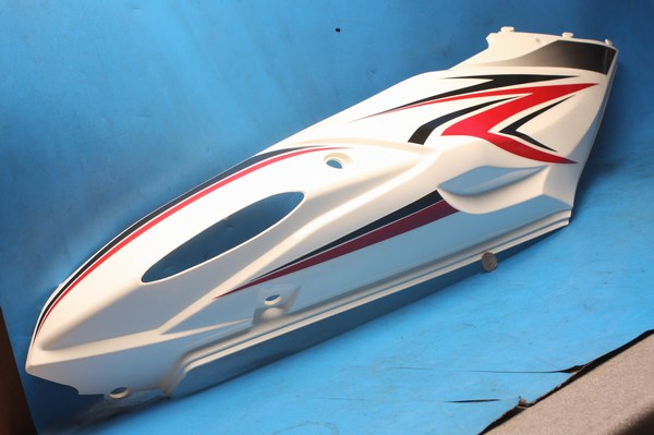 Side panel left hand rear black white red Motoroma G10