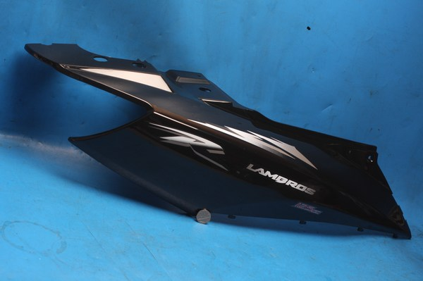 Side panel right hand rear in black Motoroma Lambros125