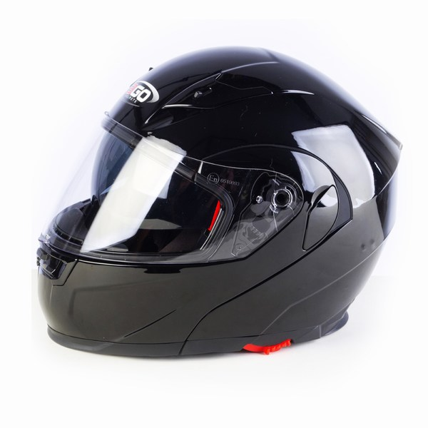 3GO E225 Flipup Helmet Black gloss Medium New