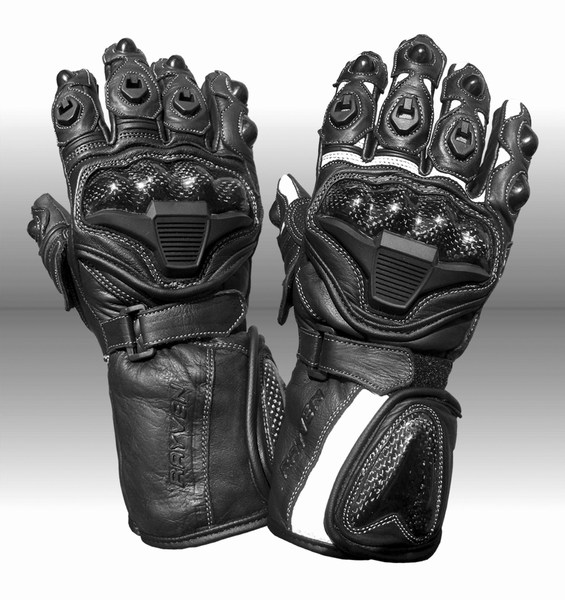Fury2 Motorcycle glove black and white Large