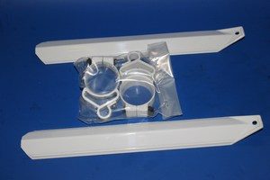 Front fork cover / protector in white PS3830