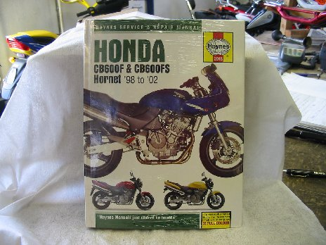 Honda CB600F CB600FS Hornet workshop manual