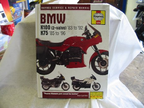 BMW K 75 K 100 workshop manual Book No1373