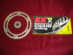 Chain and sprocket kit O ring upgrade for increased top speed