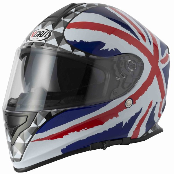 Full face helmet Vcan V127 Union jack extra large