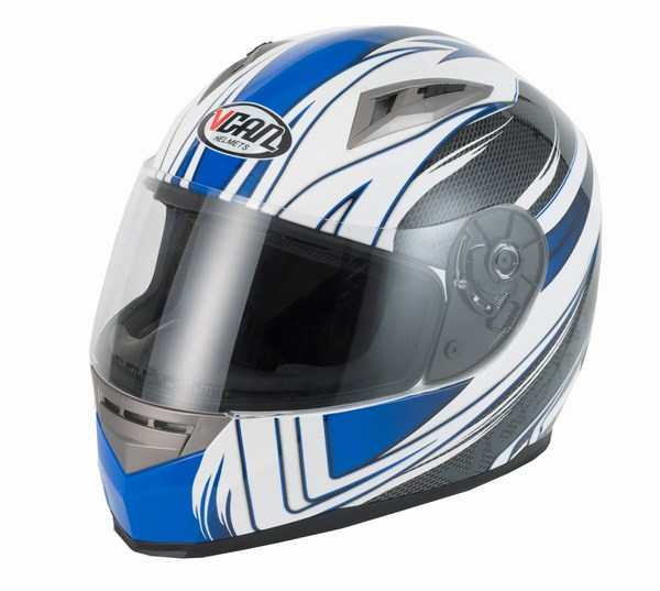 Helmet full face Vcan V158 Wind blue / carbon large