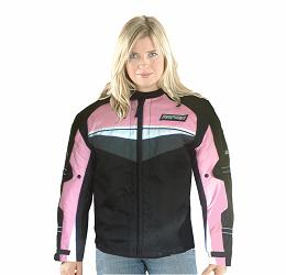 Mirage Ladies Textile Jacket Pink Extra Small