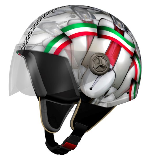 NZI 3D VINTAGE II HELMET ITS AN ITALIAN THING 55-56cm Open face