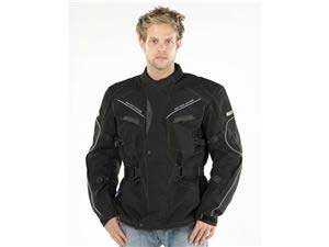 Defender textile motorcycle jacket Black Large