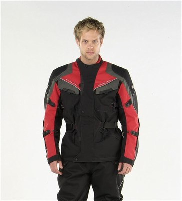 Zenith textile motorcycle jacket red small